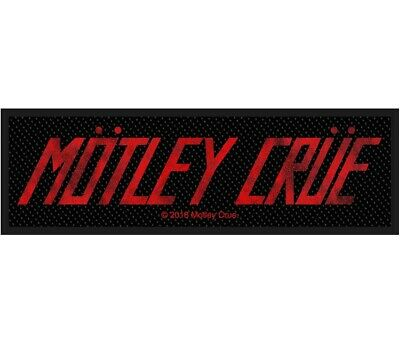 Motley Crue Logo Patch Official Metal Band Merch New