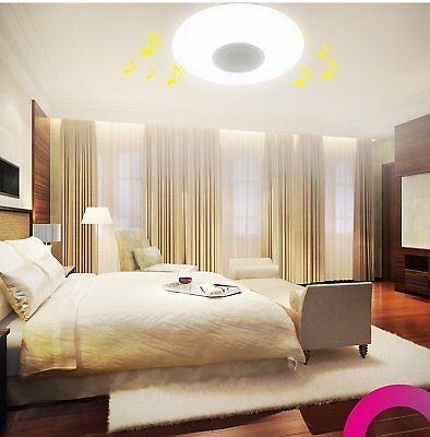 Recessed LED Lamp of Ceiling with Bluetooth Speaker Adjustable App Command