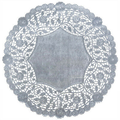 50 Silver Foil 6 inch Paper Lace Doilies - Beauftiful embossing  Made in Canada