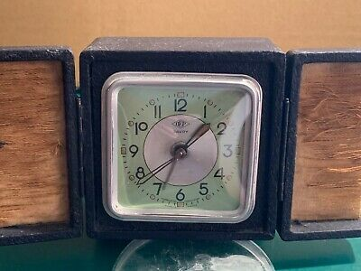 VINTAGE ART DECO FRENCH 1920's 'DEP Savoy' travel alarm clock.