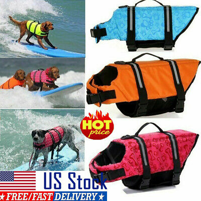 Reflective Dog Life Jacket Safety Vest Small Large Pet Puppy Swimming Preserver/