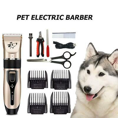 Professional Pet Dog Hair Trimmer Animal Grooming Clipper USB Electric Scissors