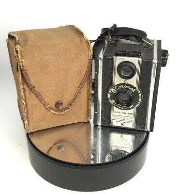 Vintage Coronet Twelve-20 Box Camera Colour-Filter Model with Canvas Case #564