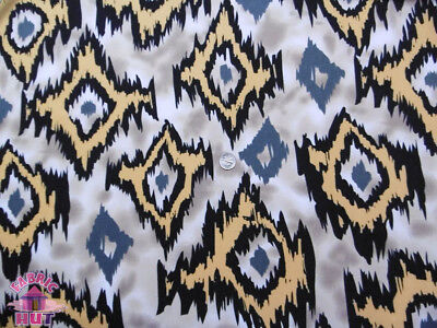 ITY Knit Bayou Brown Polyester Lycra Jersey Fabric