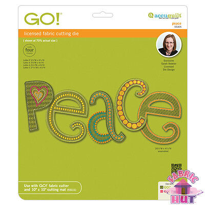 Accuquilt GO! Fabric Cutter Die Peace by Sarah Vedeler Quilting Sewing 55305