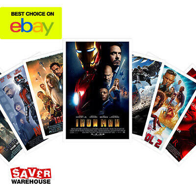 Movie Posters Printing | Marvel Super Hero Movie Posters | A4 & A3 Poster Prints