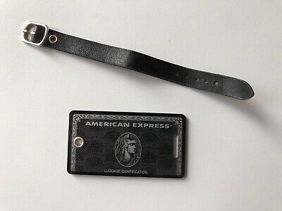 Black American Express luggage tag - Centurion - AMEX - USED