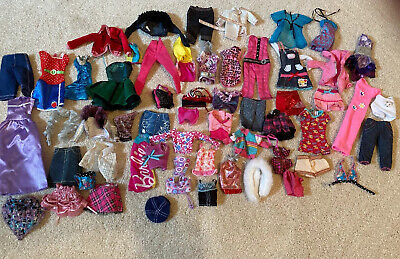 Barbie Cloths Lot Dresses, Jackets, Skirts, Etc
