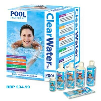 Clearwater Pool Starter Kit Water Treatment Swimming Hot Tub Chlorine Algaecide