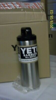 New Yeti Rambler 18oz Stainless Steel Bottle with Black Screw on Lid