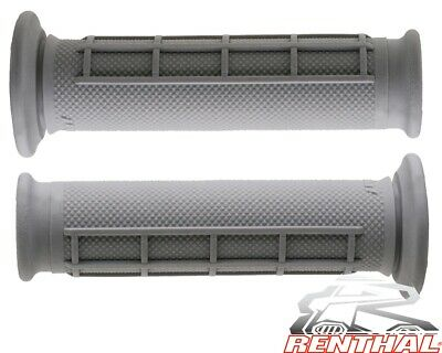 NEW RENTHAL DUAL COMPOUND 50//50 ATV GRIPS THUMB THROTTLE BLUE GREY 22//22mm