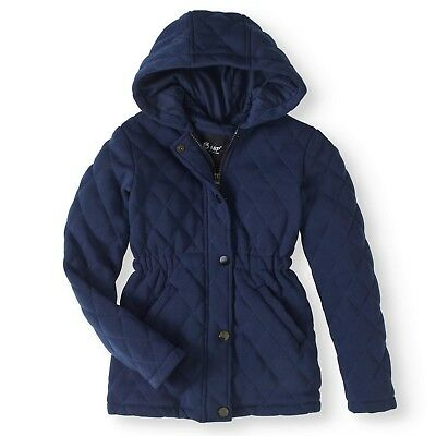 New BHIP Girls' Fleece Jacket with Jersey Lining and Hood Size 12