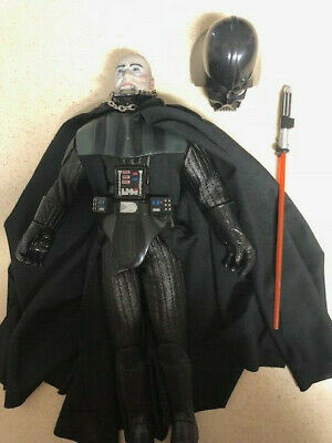 "Star Wars Darth Vader Removable helmet 12"" Hasbro 1/6 Scale Customizeable No Box"