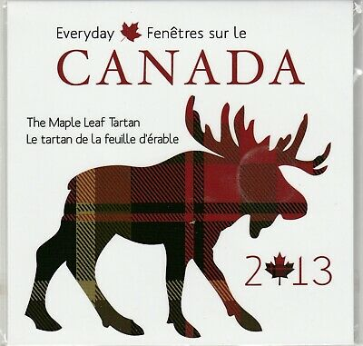 Canada 2013 Maple Leaf Tartan & 50 cent coin set
