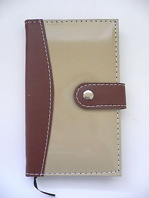 BROWN & BEIGE Refillable Faux Leather Diary, Memo/Note Book, Journal Lined Sheet