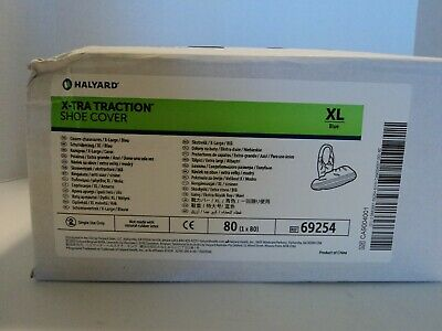 (80) Halyard 69254 Blue X-Tra Traction Shoe Cover Size Extra Large