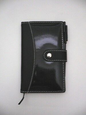 BLACK Refillable Faux Leather Diary, Memo/Note Book, Journal Lined Sheet BN