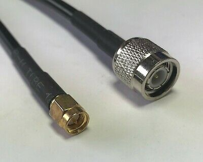 TNC Male to SMA Male RFC195 50ohm Coax Low Loss RF Pigtail Cable USA Ship