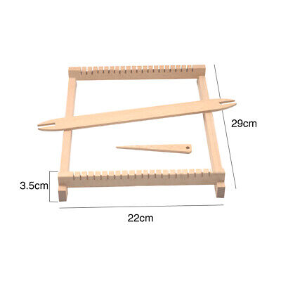 Hand Knitted Machine Durable Embroidery Hoop Tapestry Wooden Mini Weaving Loom
