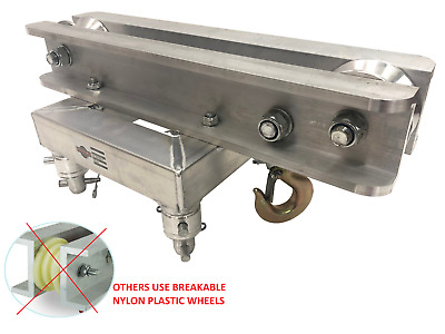 Metal Wheel Ground Support Top Section for Box Truss Chain Hoist Fits Global F34