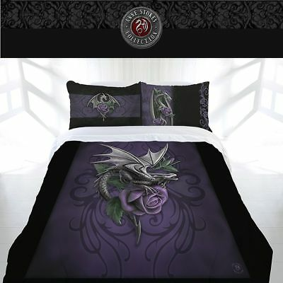 Anne Stokes Dragon Beauty Double Bed Quilt Doona Duvet Cover Home Decor