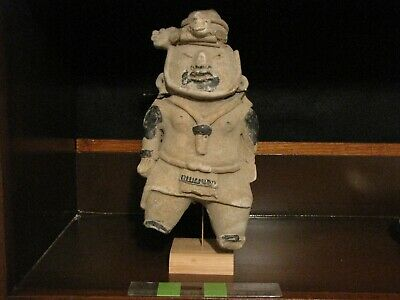 Pre Columbian, Pottery, Tested, Veracruz, Large Mounted Figure, Late Cla 600 900