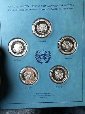Commemorative Medals United Nations Coins Worldwide Disarmament Rare