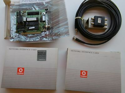 ARCNet - Compex Anet/1 network cards, port and cable - Unused