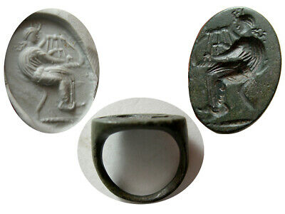 PCW-AN451-ROMAN EMPIRE. Ca. 2nd.-3rd. Century AD. Bronze Seal Ring. Rare.