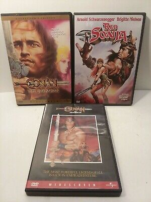 Conan The Barbarian The Destroyer Red Sonya  3 DVD SET collectors edition movies
