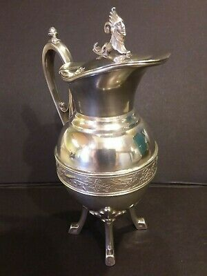 Aesthetic Movement Simpson Hall Miller Silverplate  Syrup Jug Creamer Harpy