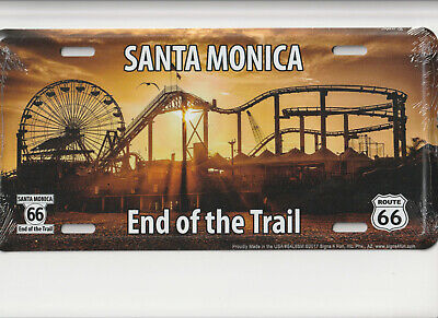 SANTA MONICA Route 66 rt  Novelty Auto Tag Car Metal Automobile License Plate