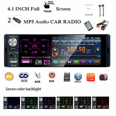 4''1 Din Car Radio Full Touch Screen 2 USB RDS FM AM Bluetooth MP5 Player Camera