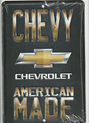 American Made CHEVROLET Chevy emblem Novelty Embossed 8x12 Metal Sign