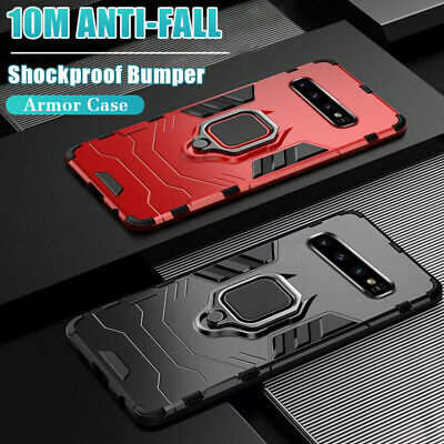Shockproof Bumper Armor Case for Samsung Galaxy Note 10 Plus/S9 S10+ Stand Cover