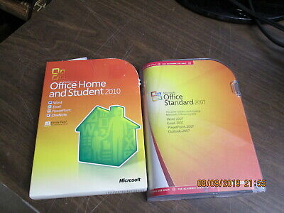 Microsoft Office Home & Student 2010 GENUINE  &  Office Standard 2007