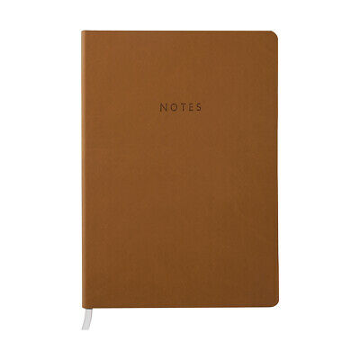 A5 Brown Softcover Notebook Lined Paper Journal