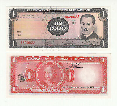 Pre-USD$ aUNC /> Columbus El Salvador P-115 1 Colone 1972