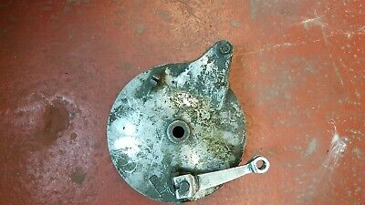 Suzuki Gt380 Rear Brake Plate Inc Arm , Pivot, Springs  And Shoes