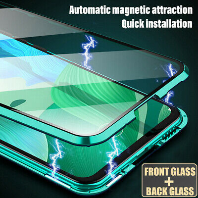 360° Double Sides Tempered Glass Magnetic Case Cover for Samsung Galaxy Note 10+