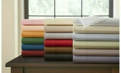 All Size 1000TC Egyptian Cotton Sheet Set Flat Fitted Pillowcases or Quilt Cover