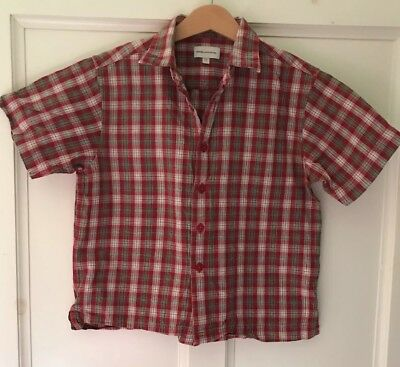 Rocha John Rocha Boys Age 5-6 Red Checked Short Sleeved Shirt - Excellent Cond