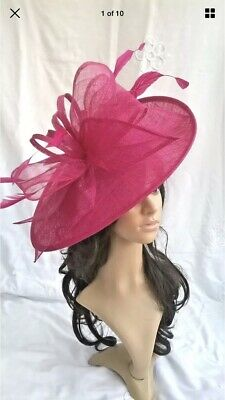Fuschia Pink Fascinator/Hat