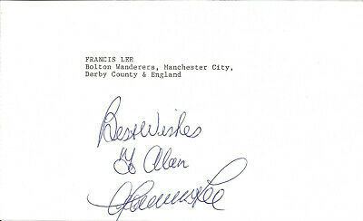 Football Autograph Francis Lee Manchester City Signed Paper Piece F1515