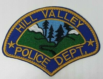 Back To The Future Hill Valley retro PD Police Dept. Patch 4 inch