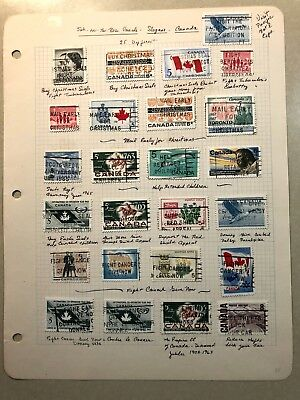 25 Canadian SOTN Cancelled Stamps