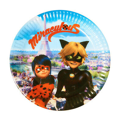 Miraculous Ladybug and Cat Noir Party Supplies Plates Lady Bug Paper Plates