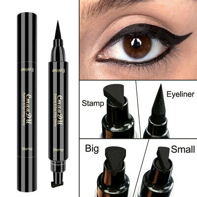 Dual Ended Winged Eyeliner Stamp Waterproof Long Lasting Liquid Smudgeproof Eye