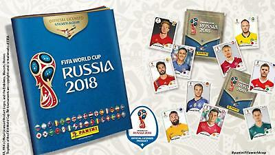 LOT 62 images stickers PANINI Fifa Coupe du Monde 2018 RUSSIA NEUF NON DOUBLES