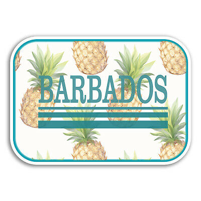 Tropical Travel Sticker Laptop Luggage #18960 2 x 10cm Barbados Vinyl Stickers